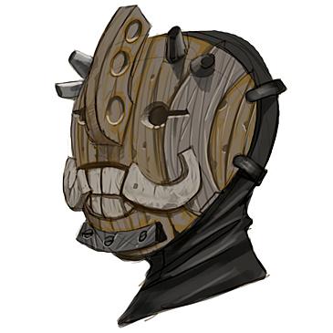 Máscara troll para Hellboy 2: The Golden Army (1)